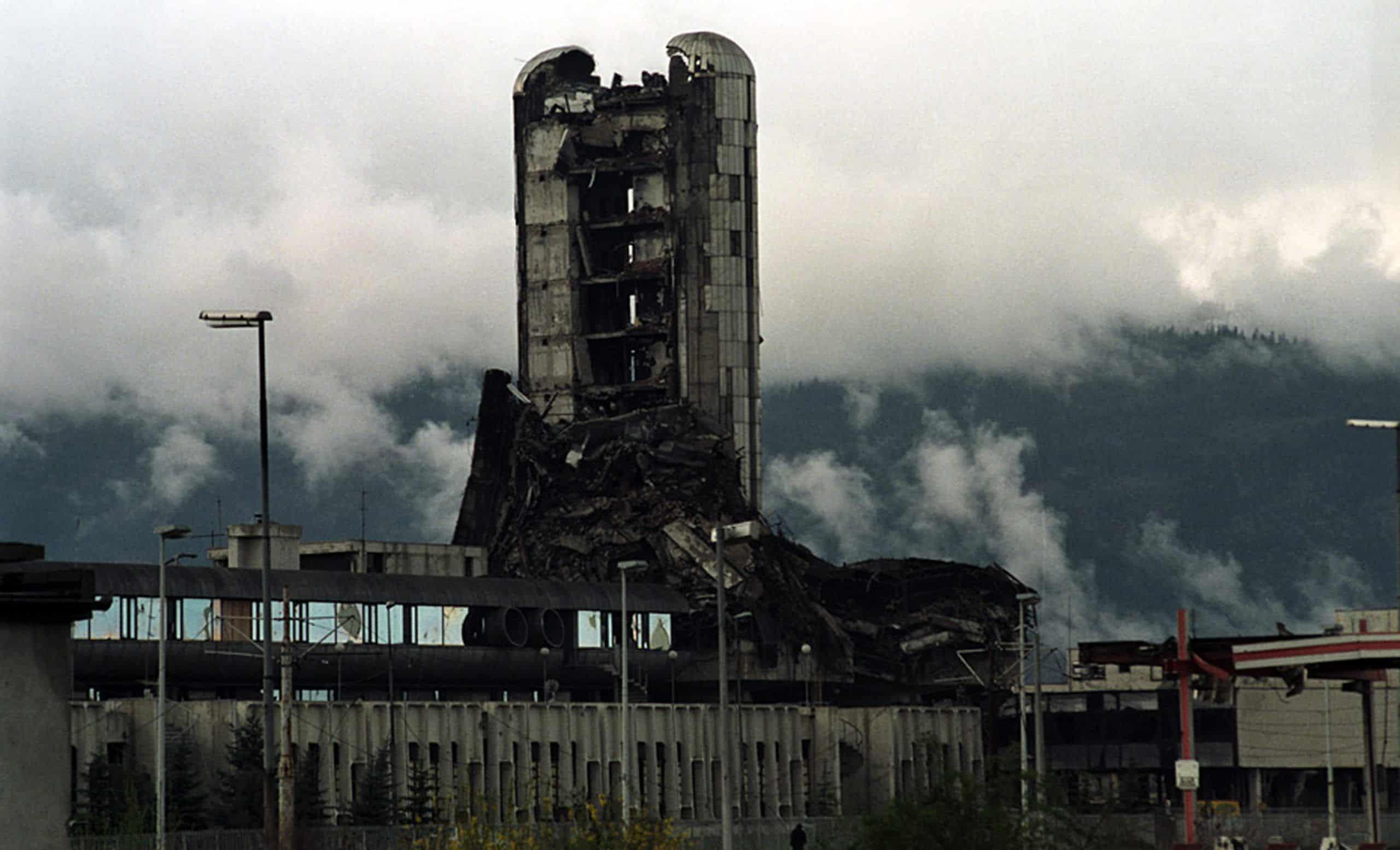 Newspaper company Oslobodjenje During The Siege of Sarajevo, saraejvo, siege of sarajevo, war in bosnia