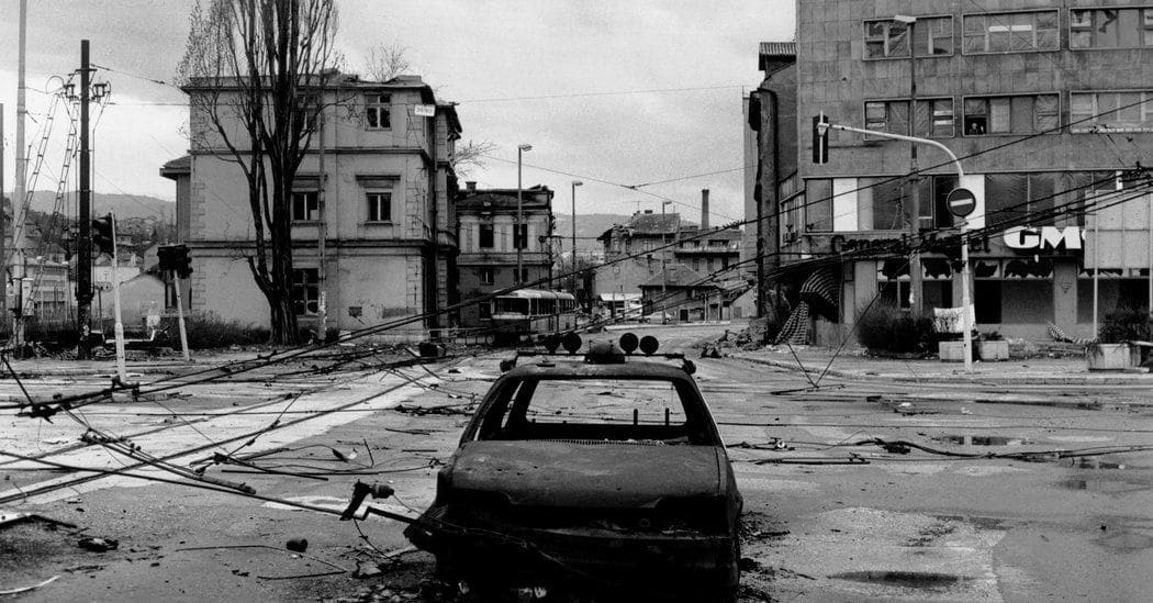 Sarajevo Center during the Siege