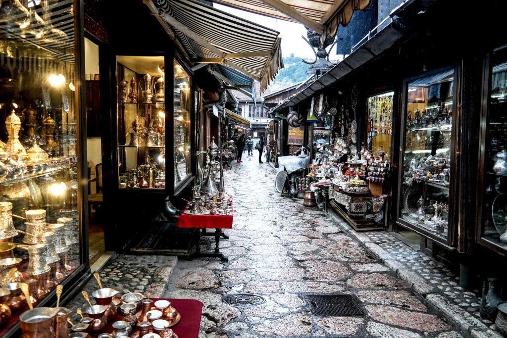 Kazandziluk - Coppercraft Street in Bascarsija, Sarajevo