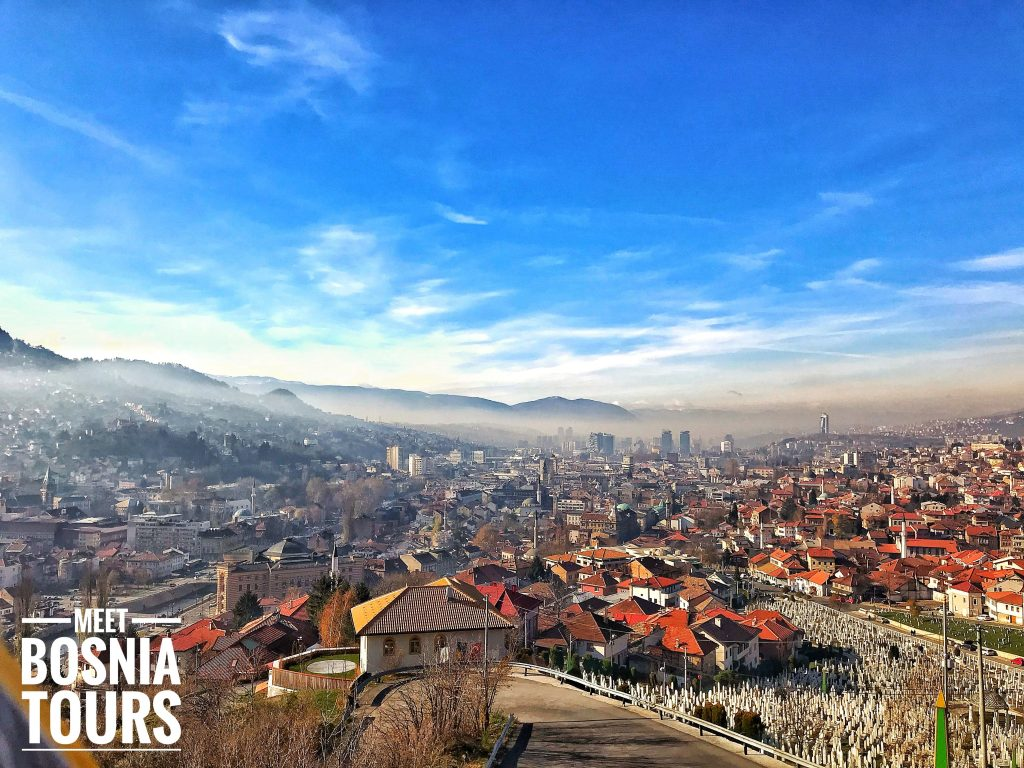 View from the Yellow Fortress in Sarajevo